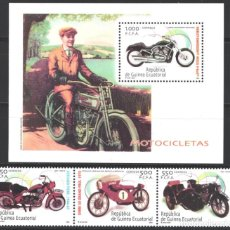 Sellos: GUINEA ECUATORIAL, 2005 EDIFIL Nº 326 / 329 /**/, MOTOCICLETAS. Lote 210968299
