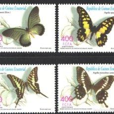Francobolli: GUINEA ECUATORIAL, 2003 EDIFIL Nº 296 / 299 /**/, MARIPOSAS. Lote 197683060