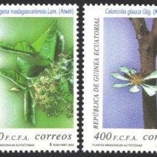 Francobolli: GUINEA ECUATORIAL, 2003 EDIFIL Nº 292 / 295, PLANTAS MEDICINALES AUTÓCTONAS, . Lote 197683463