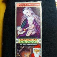 Sellos: GUINEA ECUATORIAL, 8 PTAS, ARTE Y RELIGION, NAVIDAD, AÑO 1972. NUEVO.. Lote 203629796