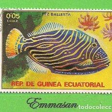 Sellos: GUINEA ECUATORIAL - MICHEL 1469 - YVERT 154-A - PEZ BALLESTA. (1979).. Lote 206997585