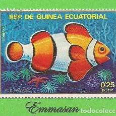 Sellos: GUINEA ECUATORIAL - MICHEL 1472 - YVERT 154-D - PEZ PAYASO. (1979).. Lote 206997832