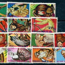 Sellos: 14 SELLOS DIFERENTES DE GUINEA ECUATORIAL, TEMA MONOS. MATASELLADOS. VER DESCRIPCIÓN. Lote 211429464