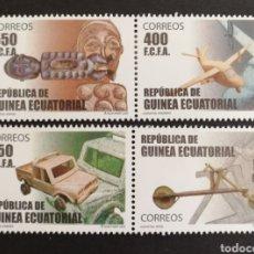 Sellos: GUINEA ECUATORIAL, JUGUETES DE MADERA 2007 MNH (FOTOGRAFÍA REAL). Lote 211489732