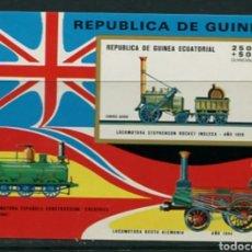 Sellos: GUINEA ECUATORIAL 1972 FERROCARRILES TRENES LOCOMOTORAS MICHEL BL 32 NUEVA SIN CHARNELA MNH. Lote 218454580