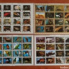Sellos: GUINEA ECUATORIAL, FAUNA USADOS (FOTOGRAFÍA REAL). Lote 223454806