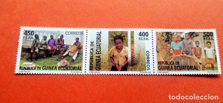 GUINEA ECUATORIAL - 2008 - EDIFIL 401/03 /**/ - EL NIÑO AFRICANO (Sellos - Extranjero - África - Guinea Ecuatorial)