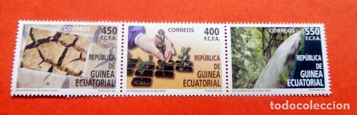 GUINEA ECUATORIAL - 2008 - EDIFIL 408/10 /**/ - AÑO INTERNACIONAL DEL PLANETA TIERRA (Sellos - Extranjero - África - Guinea Ecuatorial)