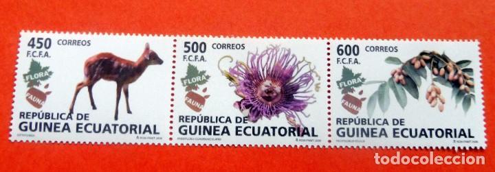 GUINEA ECUATORIAL - 2008 - EDIFIL 411/13 /**/ - FLORA Y FAUNA (Sellos - Extranjero - África - Guinea Ecuatorial)