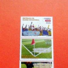 Sellos: GUINEA ECUATORIAL - 2009 - EDIFIL 422/25 /**/ - FUTBOL - COPA DE ÁFRICA DE NACIONES FEMENINA. Lote 227867476