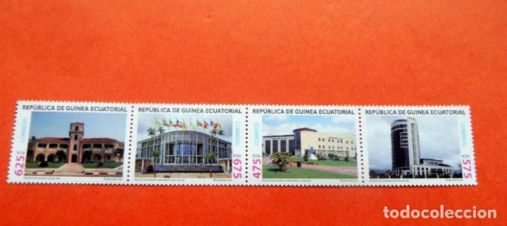 GUINEA ECUATORIAL - 2010 - EDIFIL 434/37 /**/ - ARQUITECTURA (Sellos - Extranjero - África - Guinea Ecuatorial)