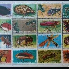 Francobolli: GUINEA ECUATORIAL 1976 INSECTOS YVERT 115 + PA 99 MICHEL 1370/1385. Lote 233499635