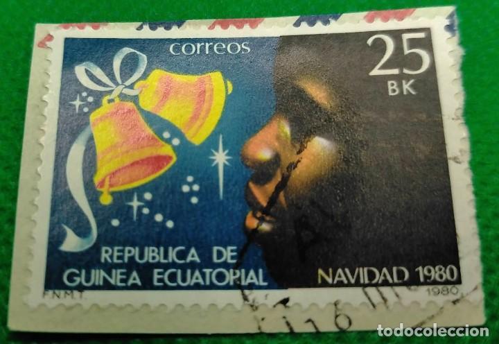 SELLO GUINEA ECUATORIAL NAVIDAD 1980 25 BK Nº 25 (Sellos - Extranjero - África - Guinea Ecuatorial)