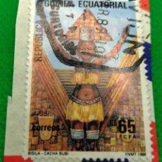 Sellos: SELLO GUINEA ECUATORIAL 1986 FOLKLORE Nº 78. Lote 235686360
