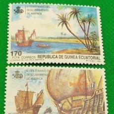 Francobolli: 2 SELLOS GUINEA ECUATORIAL 1990 V CENTENARIO DESCUBRIMIENTO DE AMÉRICA 129/130. Lote 235825015