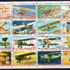 Sellos: GUINEA EQUATORIAL, 1979 , MINI-SHEET MICHEL 1598-1600KB. Lote 235894800