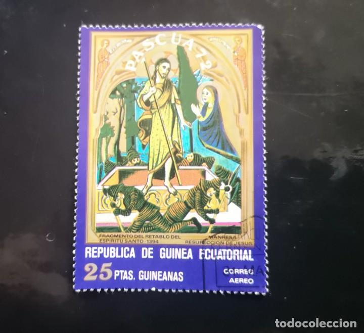 GUINEA ECUATORIAL - 1972 - PASCUA - PINTURA - AÉREO. (1972). (Sellos - Extranjero - África - Guinea Ecuatorial)