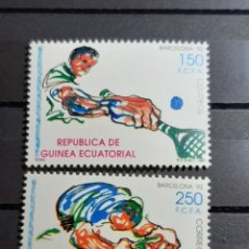 Sellos: (REP. GUINEA ECUATORIAL)(1991) JUEGOS OLIMP. BARCELONA 92. SERIE COMPLETA. Lote 241148460