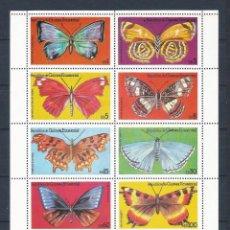 Sellos: GUINEA ECUATORIAL 1979 - YT 125ND** - HOJA BLOQUE MARIPOSAS - MNH. Lote 241697410
