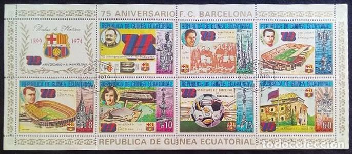 GUINEA ECUATORIAL 75 ANIVERSARIO F.C. BARCELONA 1974 (Sellos - Extranjero - África - Guinea Ecuatorial)