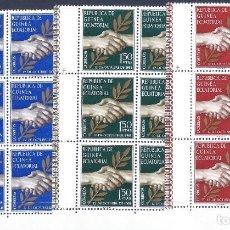 Sellos: GUINEA ECUATORIAL. EDFIL 1-3. 1968 (SERIE COMPLETA EN BLOQUES DE 6). MNH **. Lote 245199160