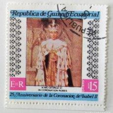 Sellos: SELLO DE GUINEA ECUATORIAL 30 EK - 1978 - CORONACIONES - USADOS SIN SEÑAL DE FIJASELLOS. Lote 252991210