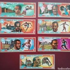 Francobolli: GUINEA ECUATORIAL 1972 OLIMPIADA MÚNICH 72 MICHEL 81/87 YVERT 21 + PA7 - NUEVOS MNH. Lote 259250040
