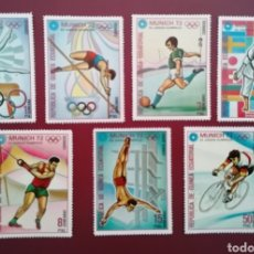 Francobolli: GUINEA ECUATORIAL 1972 OLIMPIADA MÚNICH 72 MICHEL 116/124 YVERT 23 + PA9 - NUEVOS MNH. Lote 259251005