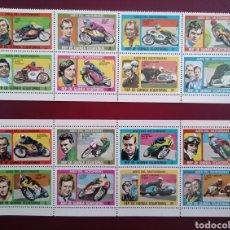 Francobolli: GUINEA ECUATORIAL 1976 ASES DEL MOTORISMO MICHEL 895/910 YVERT 88 - NUEVOS MNH. Lote 259901245