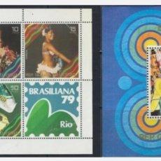 Sellos: GUINEA ECUATORIAL 1979 BRASILIANA 79 CARNAVAL MICHEL V1600/Z1699 + BL B317 RIO DE JANEIRO. Lote 265858599
