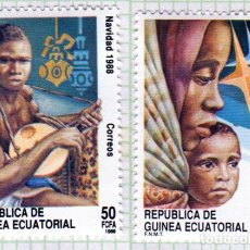 Francobolli: ÁFRICA. GUINEA ECUATORIAL. NAVIDAD 1988. SERIE COMPLETA. NUEVOS CON CHARNELA. Lote 266009108