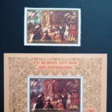 Sellos: GUINEA ECUATORIAL 1978 - 400 ANIVERSARIO DE PEDRO PABLO RUBENS UNICEF - MICHEL 1344 + BL 298. Lote 266344998