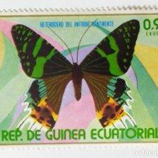 Sellos: SELLO DE GUINEA ECUATORIAL 0,95 E - 1976 - MARIPOSAS - USADO SIN SEÑAL DE FIJASELLOS. Lote 269089488