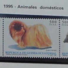 Sellos: 1994-GUINEA ECUATORIAL REPUBLICA-SELLOS-SERIE COMPLETA-ANIMALES DOMESTICOS. Lote 278454633