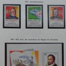 Sellos: 1997-GUINEA ECUATORIAL REPUBLICA-SELLOS-SERIE COMPLETA-ACONTECIMIENTOS. Lote 278456783