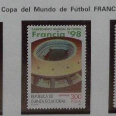 Sellos: 1997-GUINEA ECUATORIAL REPUBLICA-SELLOS-SERIE COMPLETA-CAMPEONATO MUNDIAL DE FUTBOL-FRANCIA 98. Lote 278457073