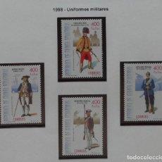 Sellos: 1998-GUINEA ECUATORIAL REPUBLICA-SELLOS-SERIE COMPLETA-UNIFORMES MILITARES. Lote 278457463