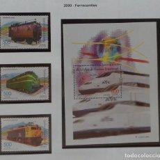 Sellos: 2000-GUINEA ECUATORIAL REPUBLICA-SELLOS-SERIE COMPLETA-FERROCARRILES. Lote 278458493