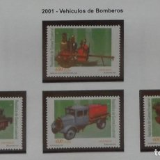 Sellos: 2001-GUINEA ECUATORIAL REPUBLICA-SELLOS-SERIE COMPLETA-VEHICULOS DE BOMBEROS. Lote 278459303