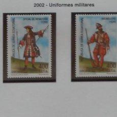 Sellos: 2002-GUINEA ECUATORIAL REPUBLICA-SELLOS-SERIE COMPLETA-UNIFORMES MILITARES. Lote 278459653