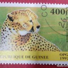Selos: GUINEA 1997. CHEETAH (ACINONYX JUBATUS) MI:GN 1634,. Lote 286574333