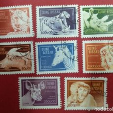 Timbres: GUINEA BISSAU 1989. ANIMALES (1989) SERIE COMPLETA.. Lote 286673248