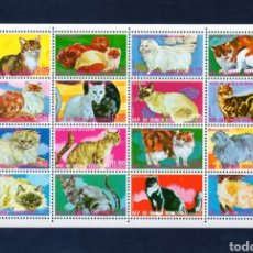 Sellos: GUINEA ECUATORIAL 1975 - GATOS - MICHEL 704/719 - NUEVOS SIN CHARNELA MNH. Lote 290101623