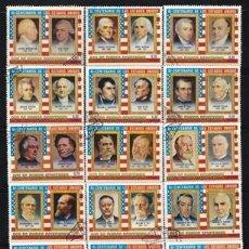 Selos: GUINEA ECUATORIAL 1975 - 2º CENT. INDEPENDENCIA DE LOS ESTADOS UNIDOS, PRESIDENTES - COMPLETA - USAD. Lote 290560908