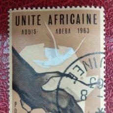 Sellos: GUINEA 1963. CONFERENCIA DE NACIONES AFRICANAS. YT:GN 161,. Lote 295476938