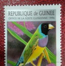 Sellos: GUINEA 1996.GOULDIAN FINCH (CHLOEBIA GOULDIAE) YT:GN 1079,. Lote 295478548