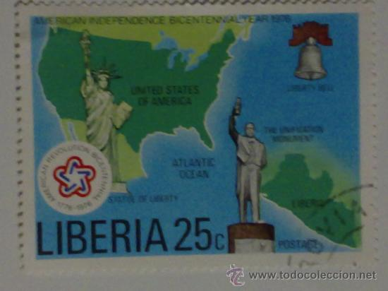 SELLO DE LIBERIA BICENTENARIO DE LA INDEPENDENCIA EEUU (Sellos - Extranjero - África - Liberia)