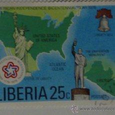 Sellos: SELLO DE LIBERIA BICENTENARIO DE LA INDEPENDENCIA EEUU. Lote 27097072