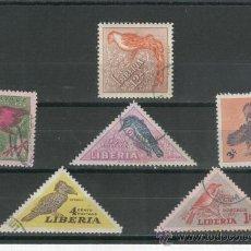 Sellos: SERIE COMPLETA. PAJAROS. SELLOS. LIBERIA. EXCEPCIONAL. RAROS. AVES. FAUNA.TRIANGULARES.. Lote 21967478