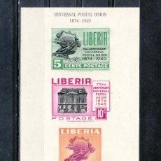 Sellos: LIBERIA HB 2 CON CHARNELA, U.P.U., 75º ANIVERSARIO DE LA UNION POSTAL UNIVERSAL,. Lote 27385514